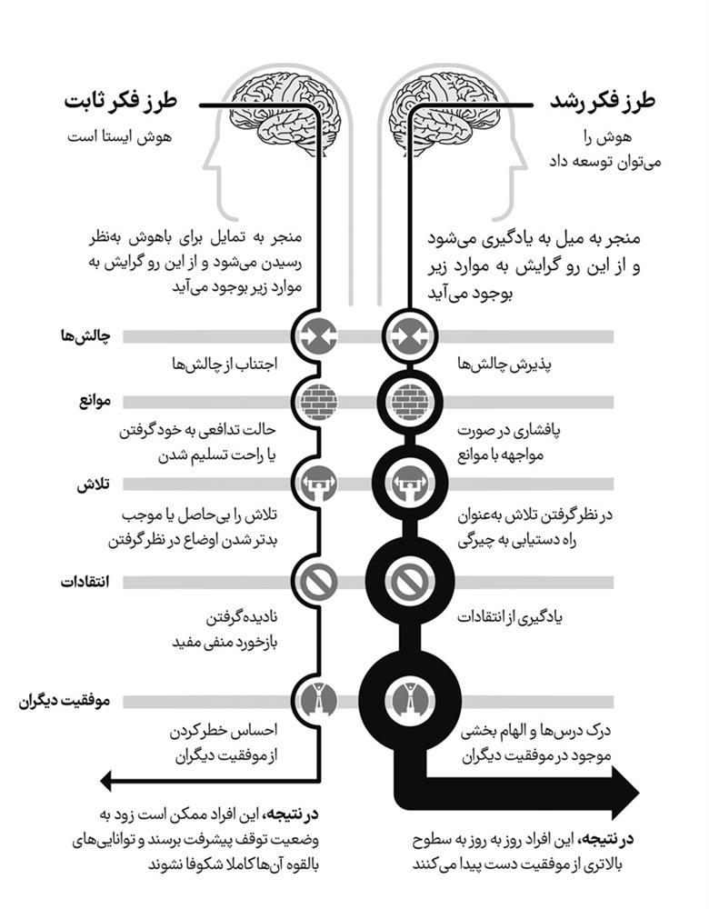 نمودار مربوط به کتاب طرز فکر MINDSET