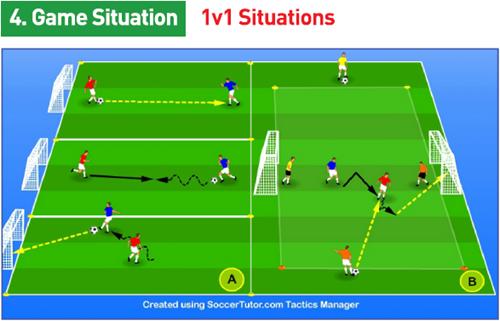 تمرینات روز فوتبال برای مدارس فوتبال (تمریناتی مناسب برای سنین 13 تا 15 سال فوتبال) بخش پانزدهم FCDORFAK