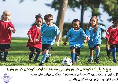 پنج دلیلی که کودکان در ورزش می مانند(مشارکت کودکان در ورزش)   FCDORFAK